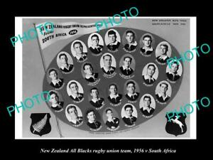 OLD-LARGE-HISTORIC-PHOTO-NEW-ZEALAND-ALL-BLACKS-RUGBY-UNION-TEAM-1956-SA-TOUR