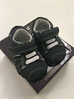 Pediped Baby Boys Soft Sole Shoes Size 0-6 Months Jake Navy Blue Layette