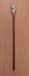 Miniature Handmade collectors Walking Stick Owl Bird Head Cane Hall GIFT LGW