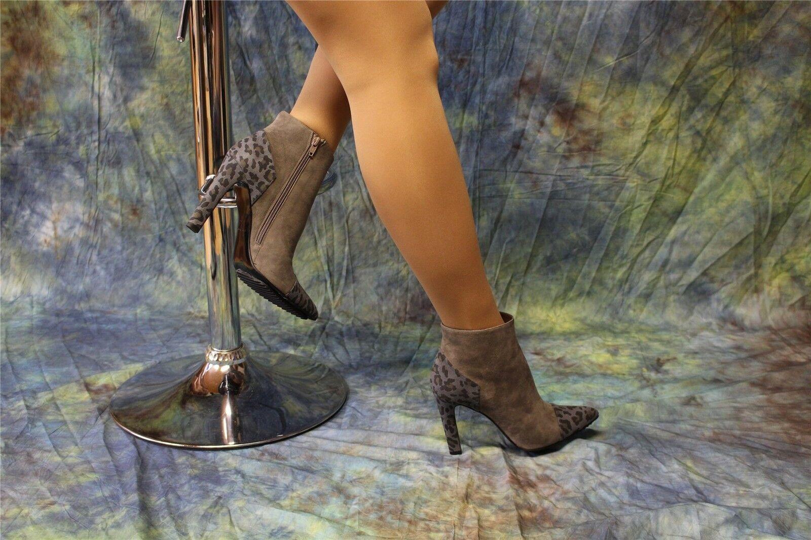 Wildleder-Stiefeletten High Heels taupe mit Animal-Print Animal-Print Animal-Print  | Outlet Online  c3a00e