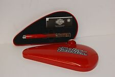 HARLEY DAVIDSON WATERMAN FOUNTAIN PEN - RED GAS TANK CASE