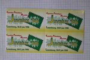 JUVALUX-1998-Luxembourg-Philatelique-Exposition-souvenir-AD-Seal-Poster-BLOCK-Comme-neuf