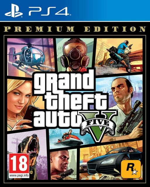 Grand Theft Auto V PS4 - Gta 5 Per Sony PLAYSTATION 4 Nuovo e Sigillato