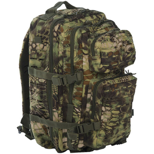 Mil-Tec Us Army Assault Pack Large Laser Cut Molle Hunting Rucksack Mandra Wood