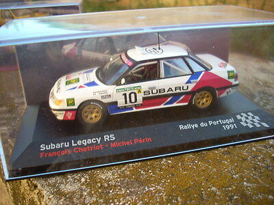 DIE CAST SUBARU LEGACY RS CHATRIOT-PERIN RALLYE PORTUGAL 1991 SCALA 1//43 SCAT16