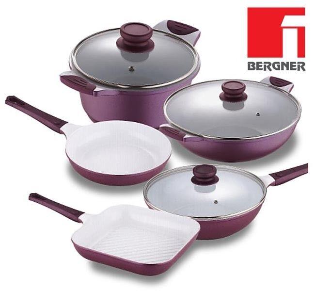 Bergner Ceramic Frying Pans Ceramic WOK Ceramic Pan Square Grilling Pans NEW