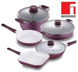 Bergner Ceramic Frying Pans Ceramic Wok Ceramic Pan Square