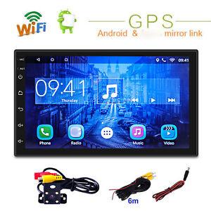 Android-2-Din-7-039-039-Auto-Autoradio-Navigatore-GPS-Bluetooth-Wifi-MP5-Retrocamera