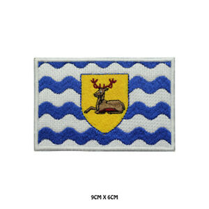 HERTFORDSHIRE County Flag Embroidered Patch Iron on Sew On Badge For Clothes Etc