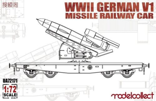 WWII Germany V1 Missile Railway Car Modelcollect UA72171