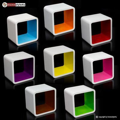 Cube Design Retro Wandregal CD Regal blau Bücherregal Cubes