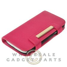 Samsung i9300 Galaxy S3 Wallet with Magnetic Phone Case-Pink/Gold Protector