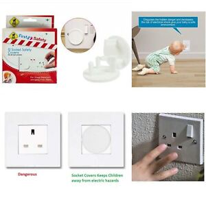 First Steps 12 Home Safety Plug Socket Covers Baby & Child Proof Protector Guard 5015302101206