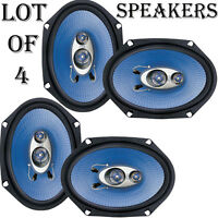 Quantity 4: Pyle Pl683bl Pair Of 6'' X 8'' 360 Watt 3-way Car Speakers on sale