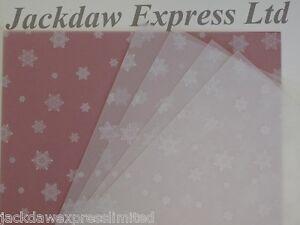 25 x a4 100gsm printed translucent vellum paper white snowflakes