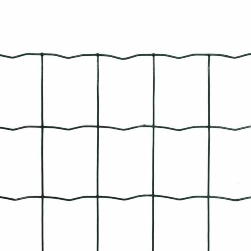 Clôture Euro Acier 10 x 1,7 m Vert