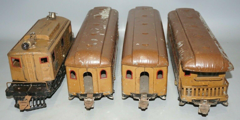 1926 IVES ståARD GAUGE 3236 LOKOMOTIV & 170  171  172 PASSAGERARYSSET