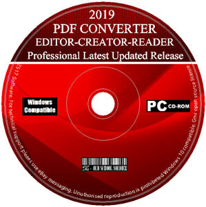 Details about 2019 Pro PDF Creator Editor Reader Viewer Converter For  Microsoft Windows 7 8 10