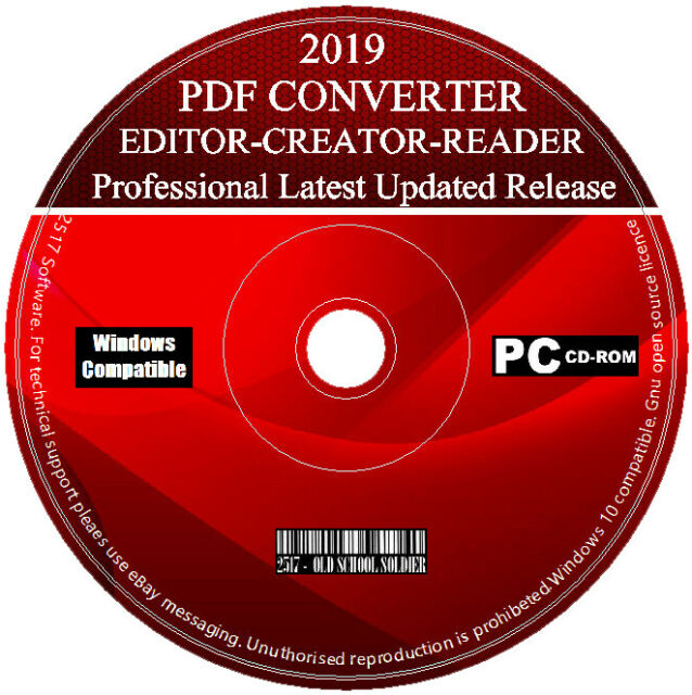 2019 Pro PDF Creator Editor Reader Viewer Converter For Microsoft Windows 7  8 10