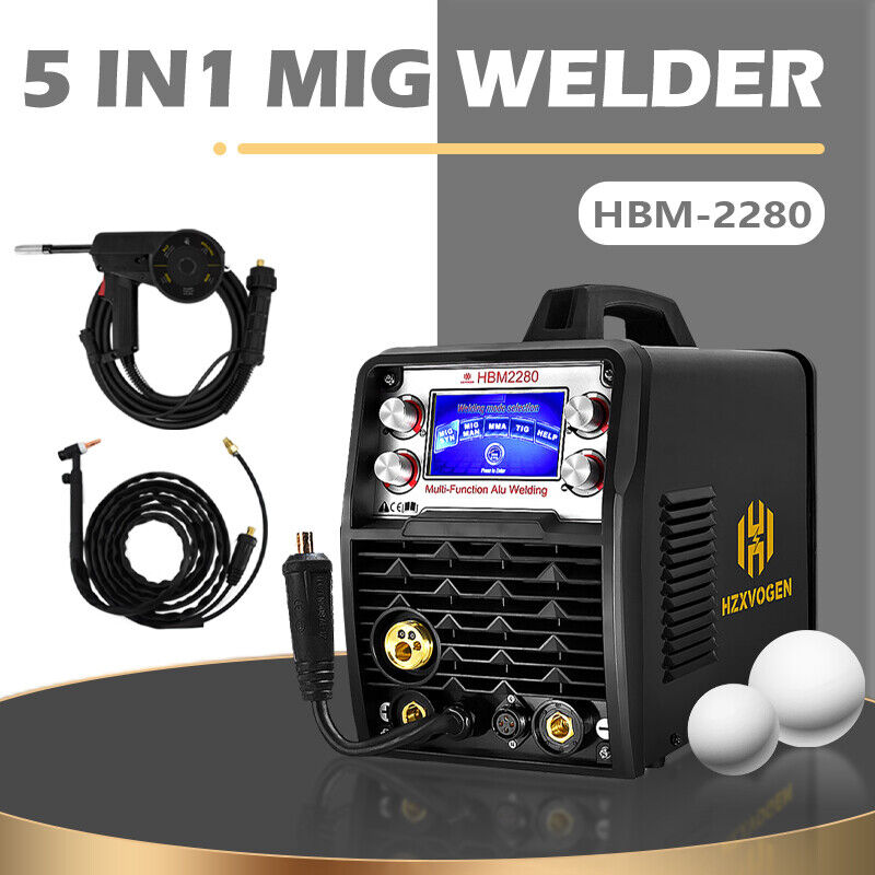 110V 220V Weld Aluminum Welder LED 200A MIG TIG ARC Stick Welding with Spool Gun. Available Now for 659.99