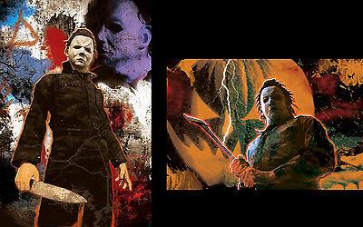 Michael Myers Halloween Axe rare METALLIC FOIL PRINT 11x17