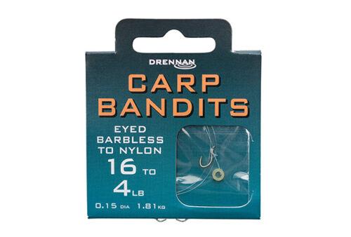 Drennan Eyed Barbless To Nylon Carp Bandits