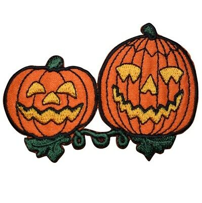 Pumpkin Applique Patch 3-Pack, Small, Iron on