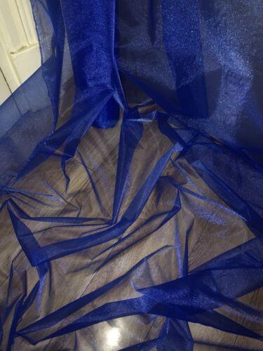 "6 MTR ROYAL BLUE ORGANZA VOILE WEDDING,CURTAIN,DECORATION,DRESS FABRIC 58"" WIDE"