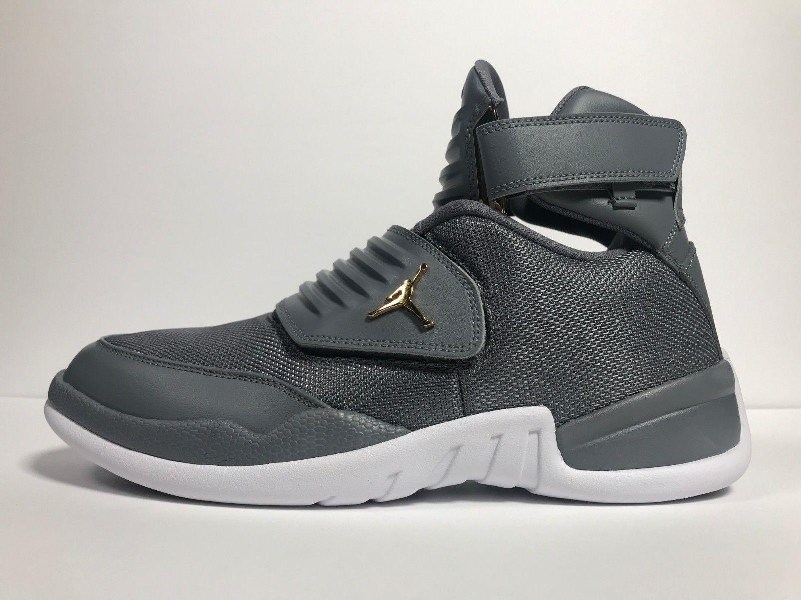 Nike Air Jordan Generation 23 Mens Basketball shoes Cool Grey White Metallic gold