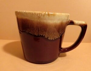 Vintage-McCoy-Pottery-Brown-Drip-Coffee-Tea-Cup-Mug