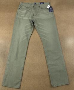 Gap De Hombre Talla 32x32 Slim Mediados De Subida Delgado Pierna Denim Verde Gap Flex Jeans Nuevo Con Etiquetas Ebay