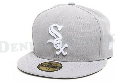 New Era 5950 CHICAGO WHITE SOX Light Grey White Cap MLB Fitted Baseball Hat