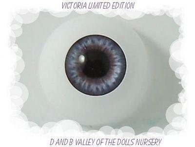 Victoria 12 mm Half Round L.E.Optical Grade ~ REBORN DOLL SUPPLIES
