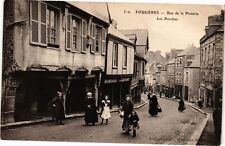 CPA FOUGERES-Rue de la Pinterie-Les Porches (265436)