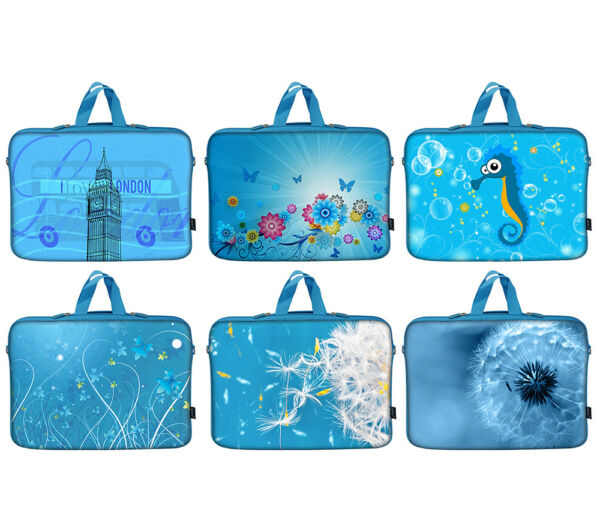 """100% Kwaliteit Blue Neoprene Laptop Computer Carrying Sleeve Case Bag Fit Up To 15.6"""""""