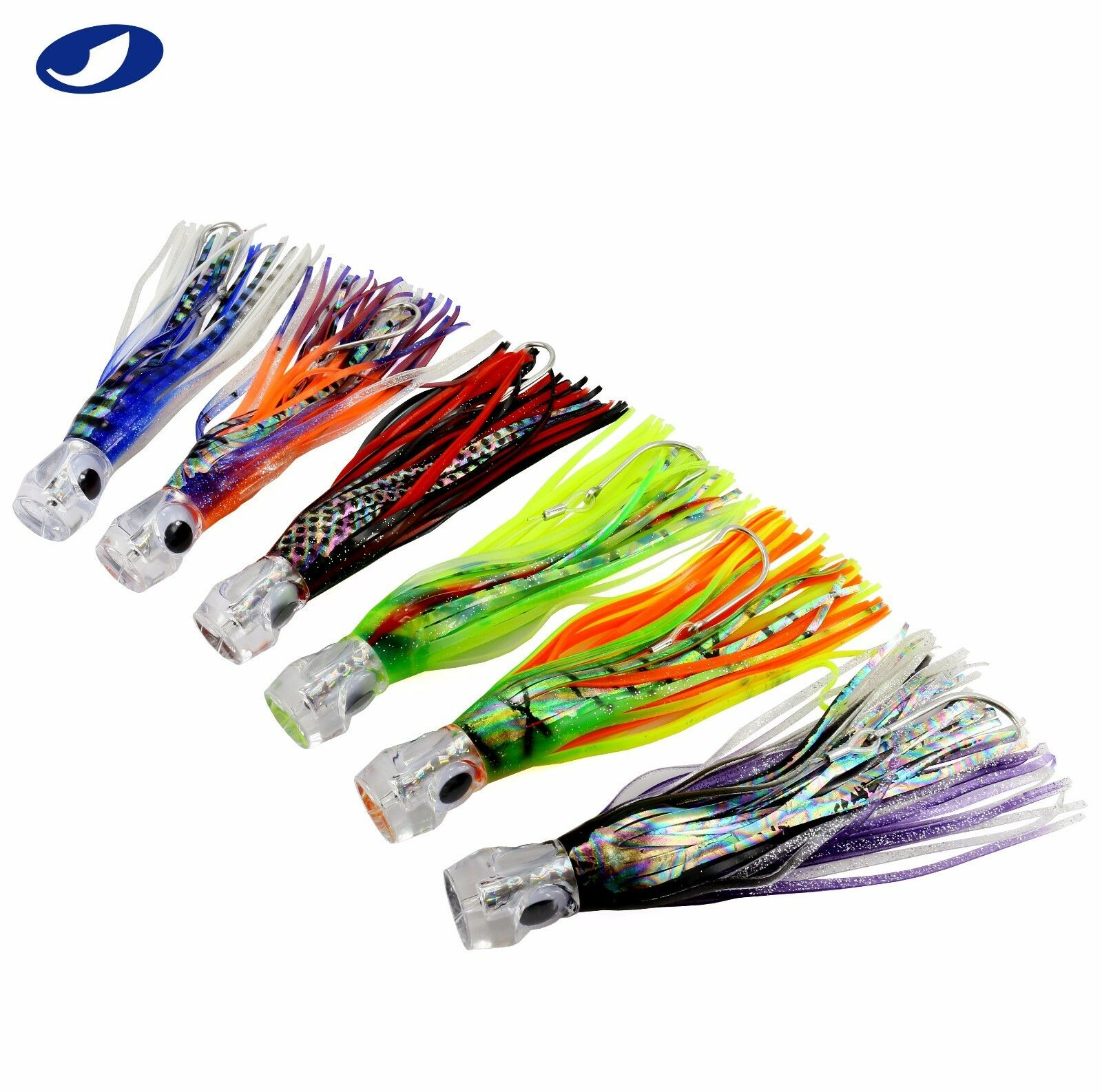 9  6 PCS LOT SALTWATER TROLLING FISHING LURES FOR BIG GAME TUNA