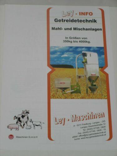 2696 und Mischanlagen Prospekt LEY Getreidetechnik Mahl