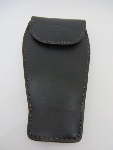 Premium Leather Saxophone Mouthpiece Pouch in Black Reunion Blues