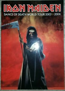 Tour-programme-Iron-Maiden-Dance-of-Death-Tour-2003-2004-carte-postale