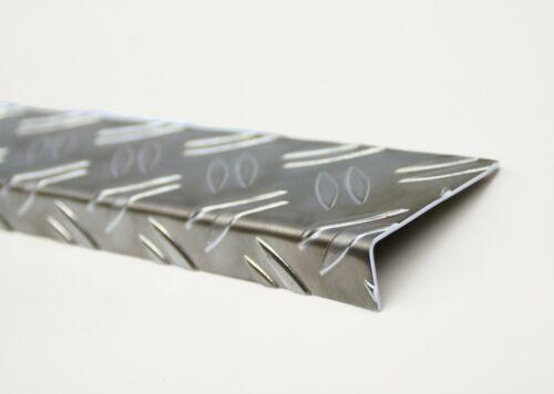 Winkel Alu Riffelblech 1,5/2mm Duett versch. Längen Kantenschutz Alublech Winkel