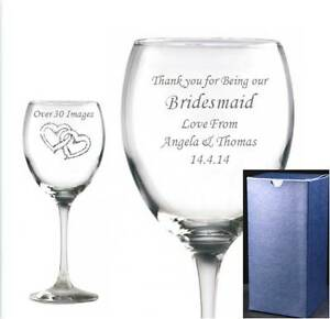 WINE-GLASS-PERSONALISED-amp-ENGRAVED-IN-Blue-Gift-Box-Any-message-free