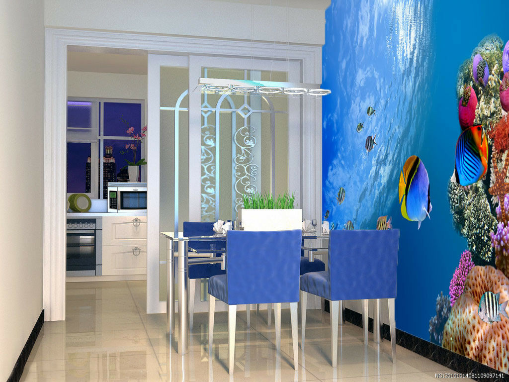 3D Bule Ocean 424 Wallpaper Murals Wall Print Wallpaper Mural AJ WALL UK Jenny