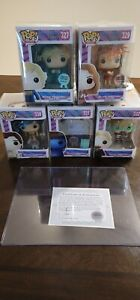 Funko POP! Signed Willy Wonka Limited Edition Set of 5 Autographed - Mike TV COA