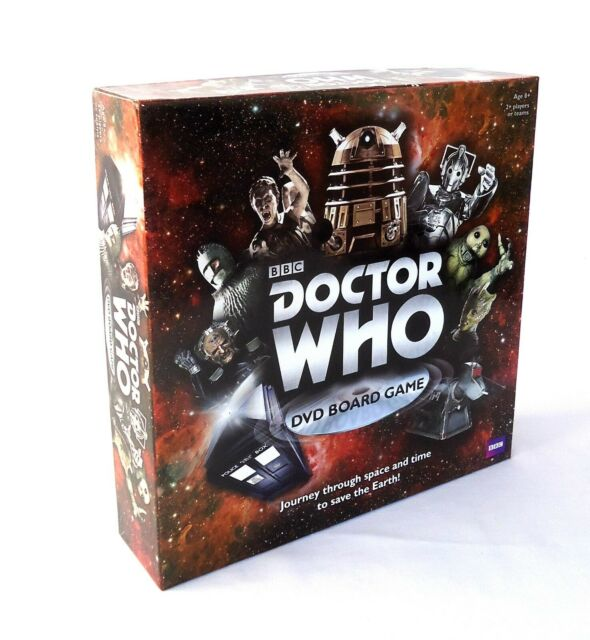 BBC Doctor Who DVD Board Game 2012 Featuring TARDIS playing pieces!