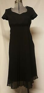 Motherhood Maternity Black Dress Special Event Medium M Short Sleeves