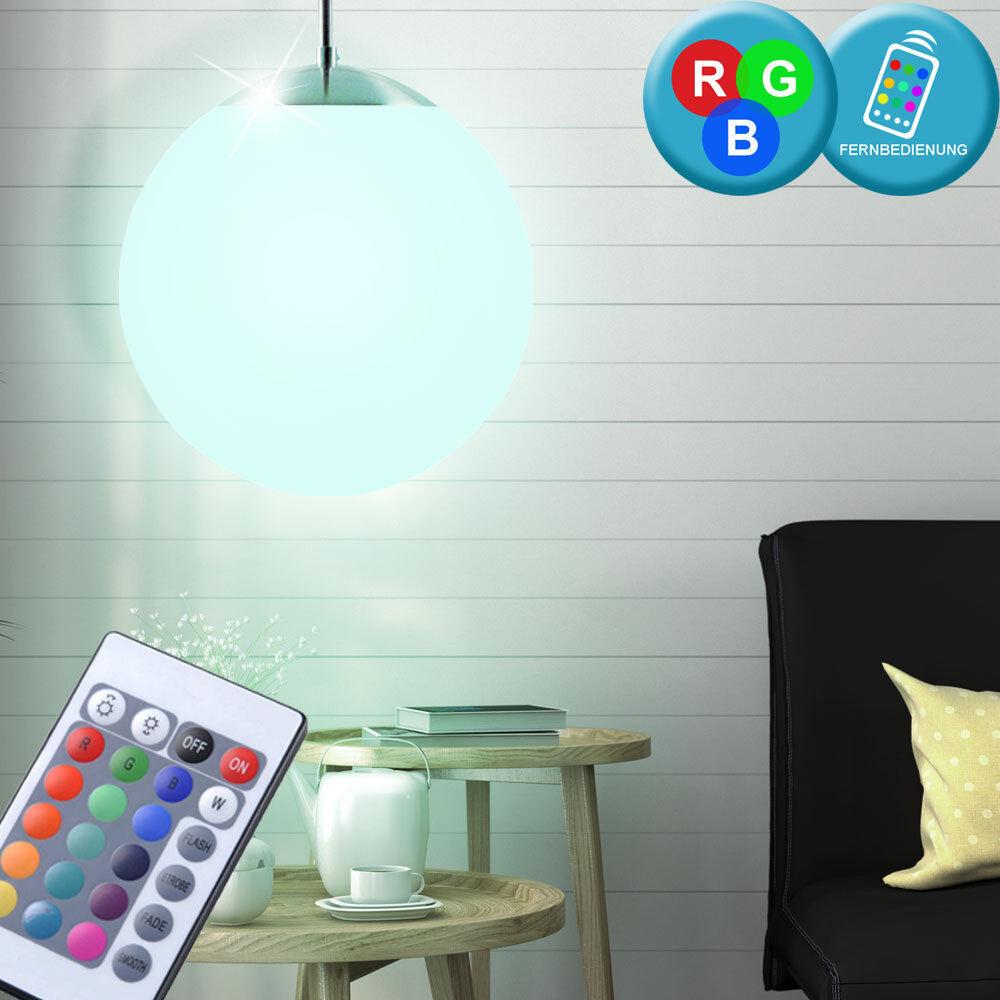 LED Pendelleuchte Farbwechsel Hängelampe 7 Watt Wohnzimmer Durchmesser 15cm