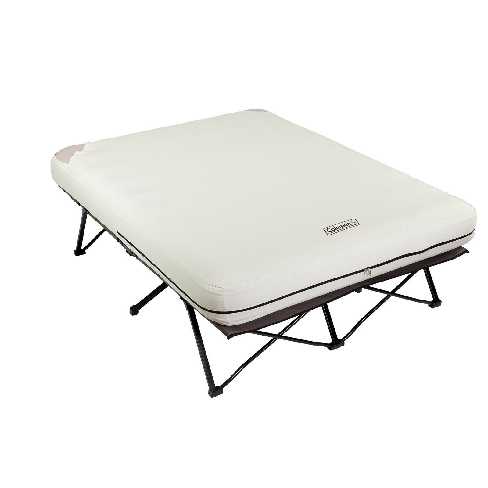 Coleman Queen Größe Folding Camp Cot Air Matratze Bed Camping Pump Side Tables