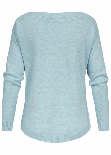 50/% OFF B18124233 JDY by ONLY Damen Pullover Sweater Glitzer Allover hell blau