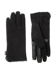 Isotoner-Women-039-s-Stretch-Fleece-Gloves-with-Microluxe-and-Smart-Smartdri-Black