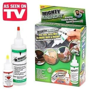 Mighty Mend It Flexible Fabric Glue Bonding As Seen On Tv Brand